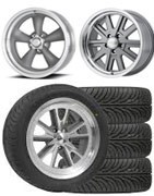 Classic wheels and tires for Mustang